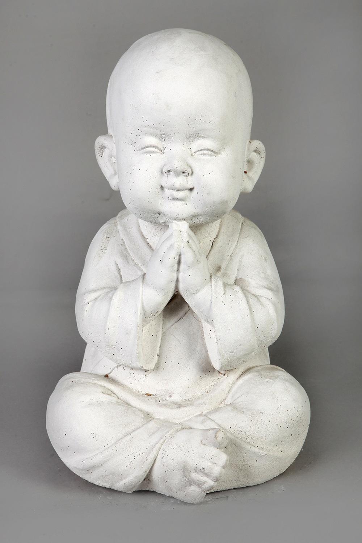 Boeddha Beeld Beton.Tuinbeeld Blij Monnik Beeld Beton