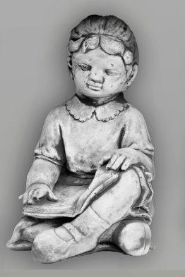 Tuinbeeld Meisje Boek Beton Tuinbeelden