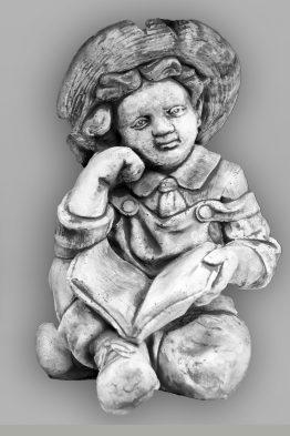 Tuinbeeld Jongen Boek Beton Tuinbeelden