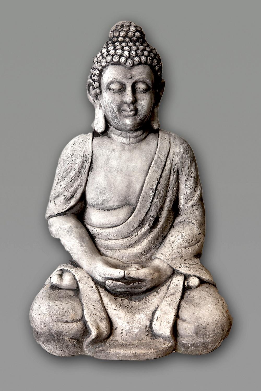 Boeddha Beeld Beton.Tuinbeeld Groot Boeddha Beeld Beton