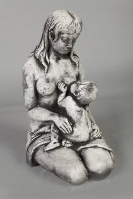 Tuinbeeld Moeder met kind Beton Winterhard Tuinbeelden