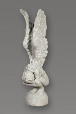 Tuinbeeld Engel Vleugels Omhoog