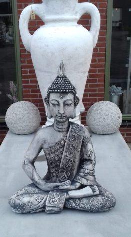Tuinbeeld Boeddha Beeld Punt Groot Beton