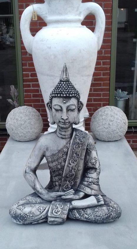 Boeddha Beeld Beton.Tuinbeeld Boeddha Punt Groot Beton