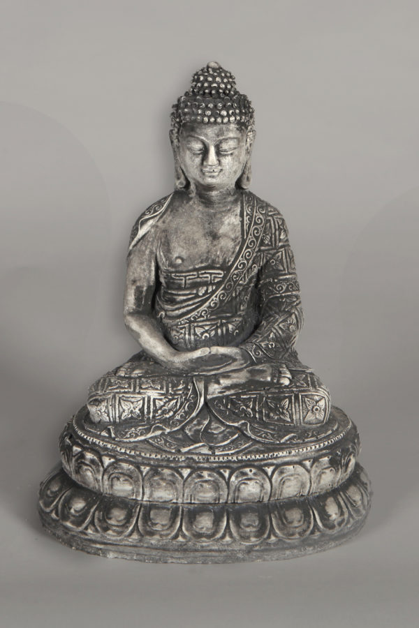 Boeddha Beeld Beton.Tuinbeeld Boeddha Plateau Beton