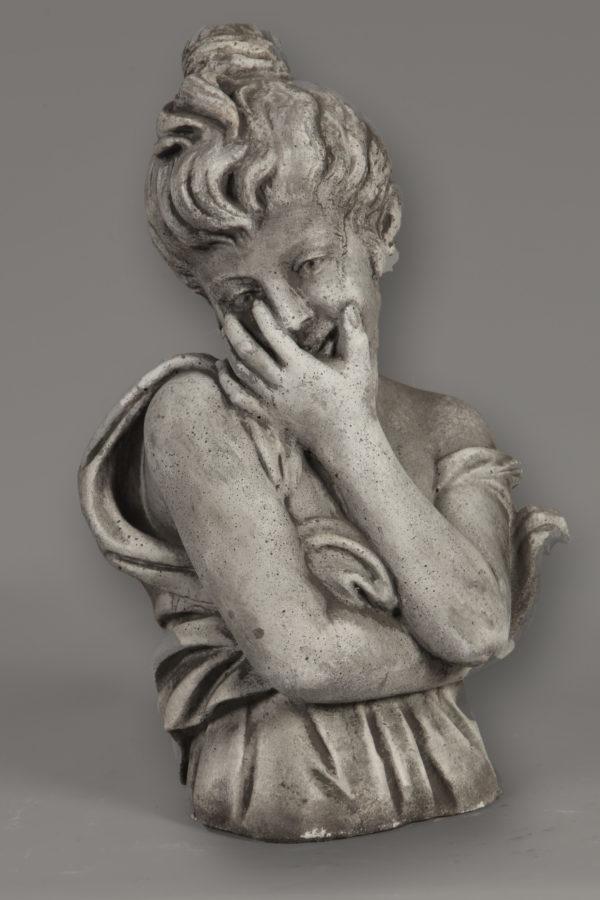 Tuinbeeld Buste Eloise Beton