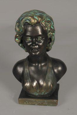 Tuinbeeld Buste Marilyn Beton Gebronst
