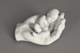 Tuinbeeld Kindje Hand Beton