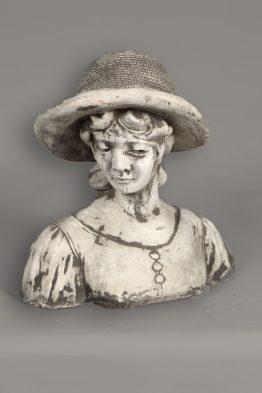 Tuinbeeld Vrouw Hoed Beton