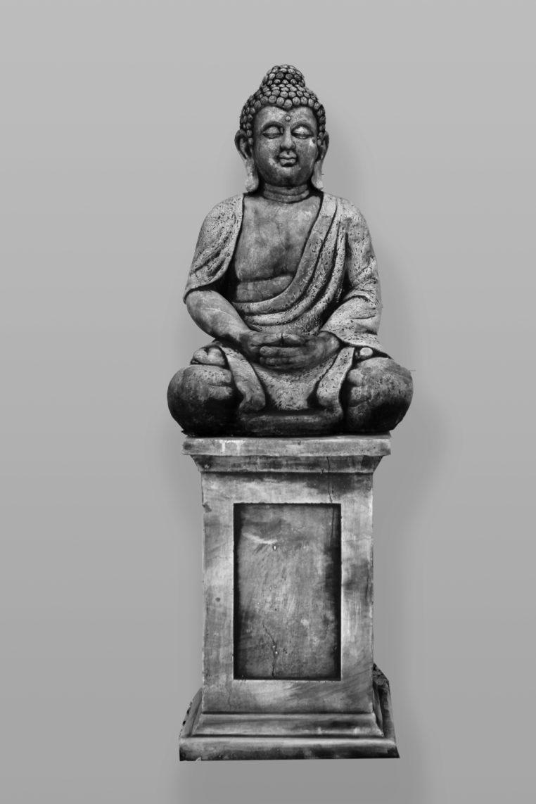 Boeddha Beeld Beton.Tuinbeeld Boeddha Sokkel Combi Beton