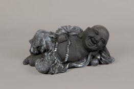 Tuinbeeld Lachende Boeddha Paint