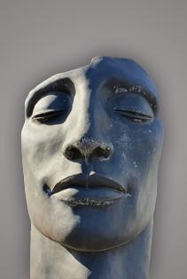 roma tuinbeelden beton beeld gezicht